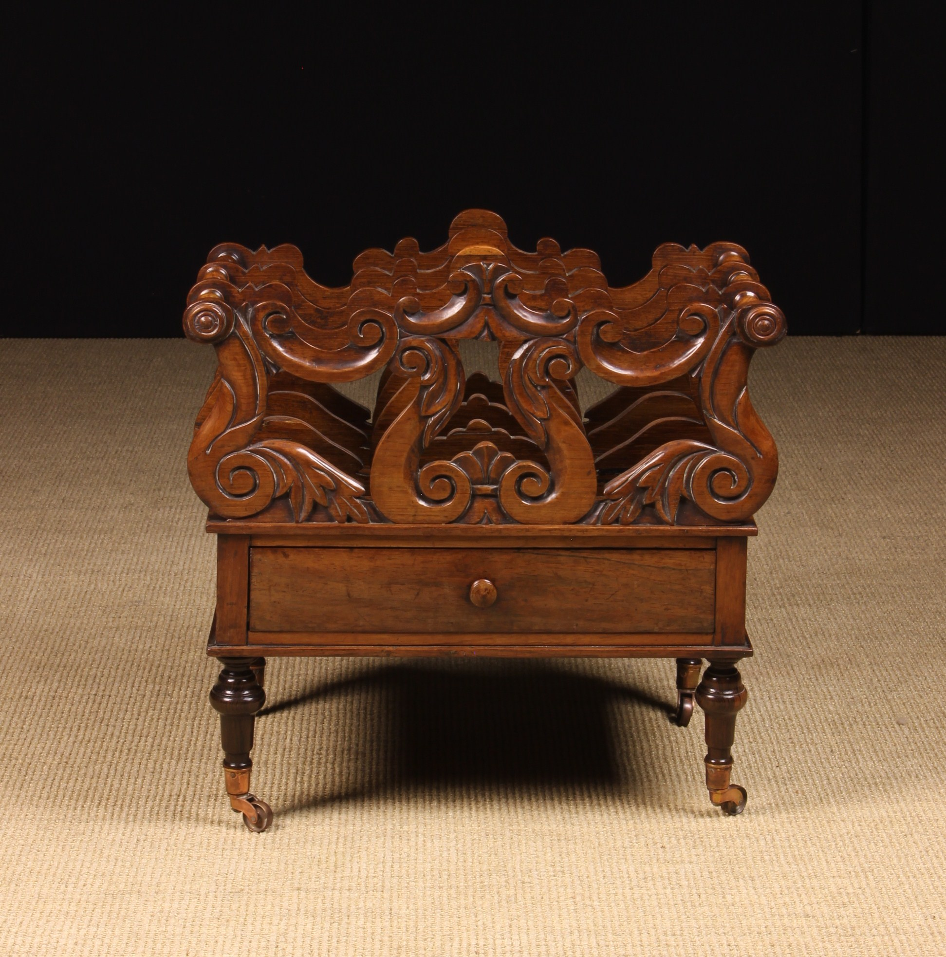 A 19th Century Rosewood Canterbury. - Image 2 of 2