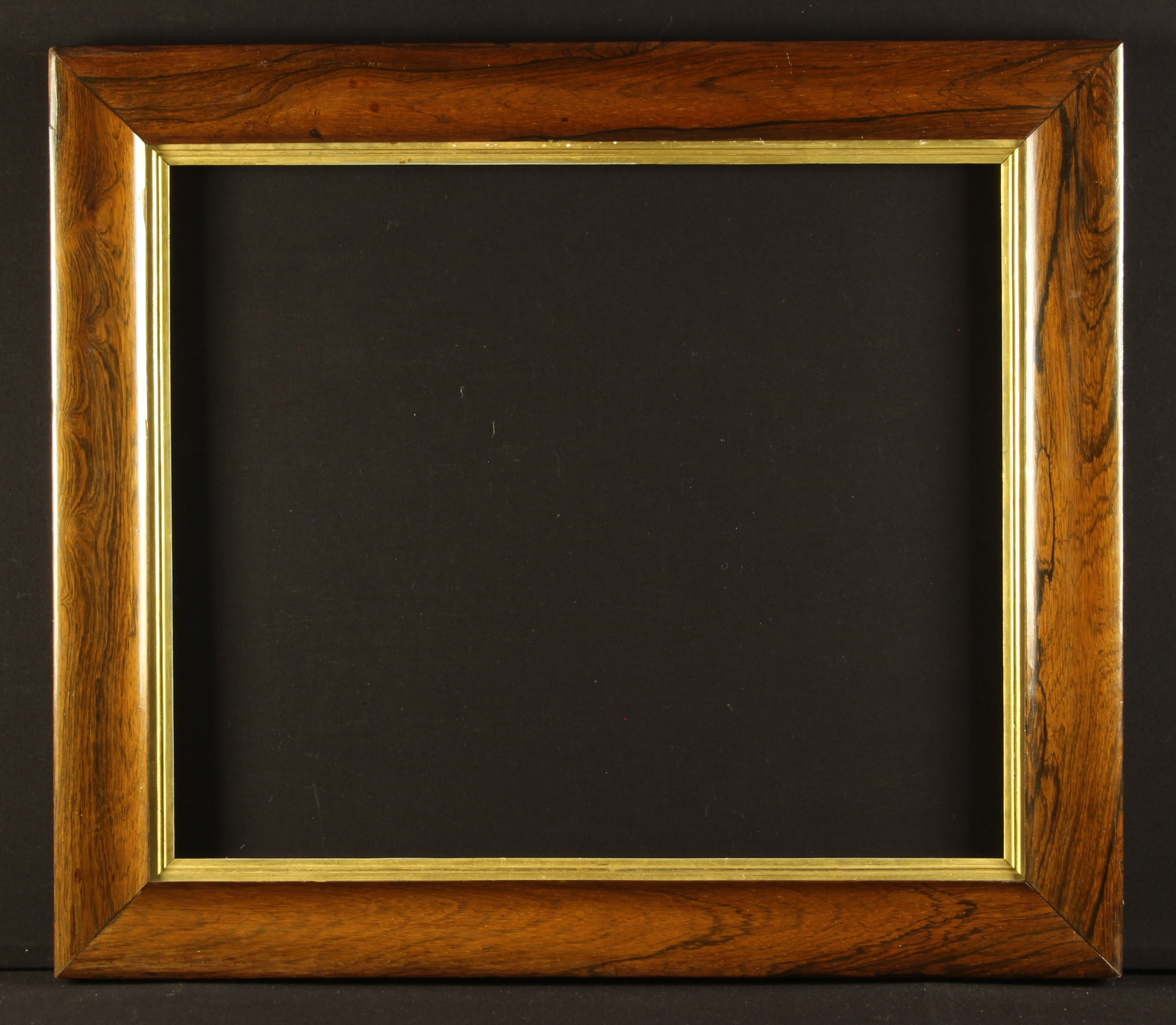 """A 19th Century Moulded Rosewood Picture Frame with gilt slip, 27"""" x 31"""" (68. - Image 2 of 2"""