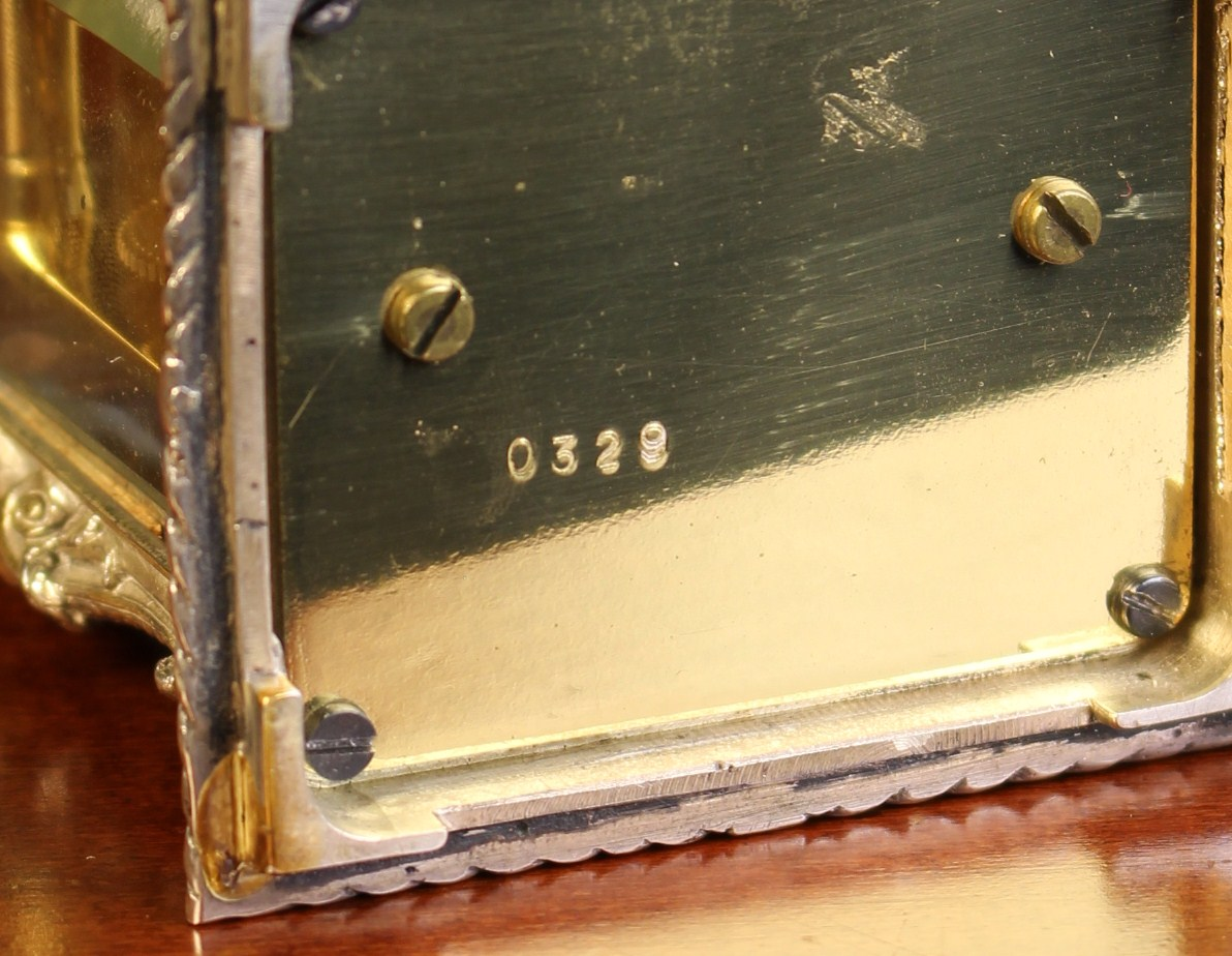 A Miniature Silver Cased Carriage Clock by Chas. Frodsham, London. - Image 3 of 3