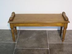 An oak window seat, made by a local craftsman to a high standard, 52cm tall x 103cm x 33cm
