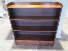 Small mahogany bookshelves - Height 92cm x 88cm x 19cm
