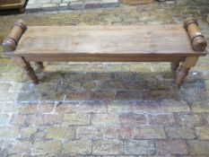 A pine window seat made by a local craftsman to a high standard - Height 54cm x 147cm x 33cm