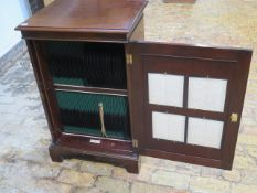 An interesting early 1900's Alma records cabinet with 99 78rpm records - Height 91cm x 58cm x 46cm