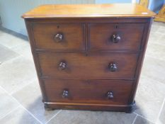 A nice Victorian mahogany chest of two over two drawers of small size - Height 91cm x 87cm x