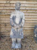 A clay replica Terracotta Army full size Sword General - 190cm x 68cm x 67cm - approx weight 230kg -