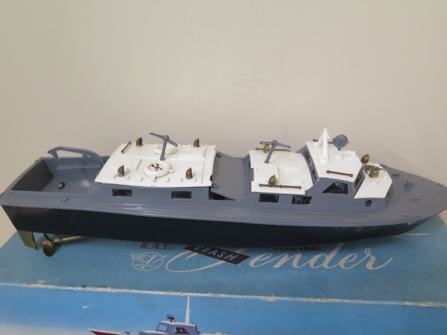A boxed Vasper RAF crash tender and a boxed Minister friction drive tinplate car, both reasonably - Image 2 of 3