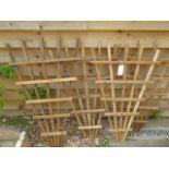 Four new fan shaped wooden trellis 100cm x 70cm