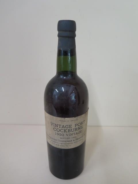 A vintage Port Cockburns 1950 vintage bottled 1952, Williams Standring Sandeman & Heatley Ltd, level