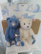 A Steiff Summer bear set 2016, mohair, 16cm tall, Limited Edition number 436 of 500, boxed with