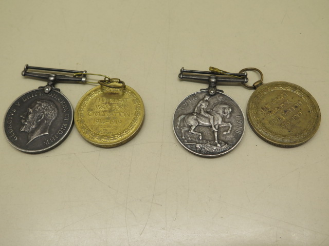 Two pairs of WWI medals to 234564 A Cpl G A Foster ASC and 118412 PNR R Saxon RE - Image 2 of 4