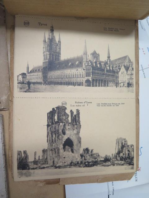An interesting collection of five WWI trench maps, a reproduction map, an album of postcards Ypres - Image 5 of 8