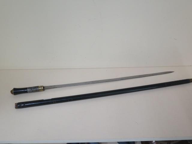 An antique Anglo-Indian swordstick, 92cm long, in general good order