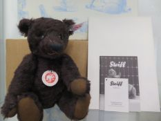 A Steiff 110th Anniversary mohair bear, 26cm tall, Limited Edition number 277 of 1902, boxed with