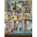Seven Playmates Star Trek figures and two Space Precinct figures, all sealed