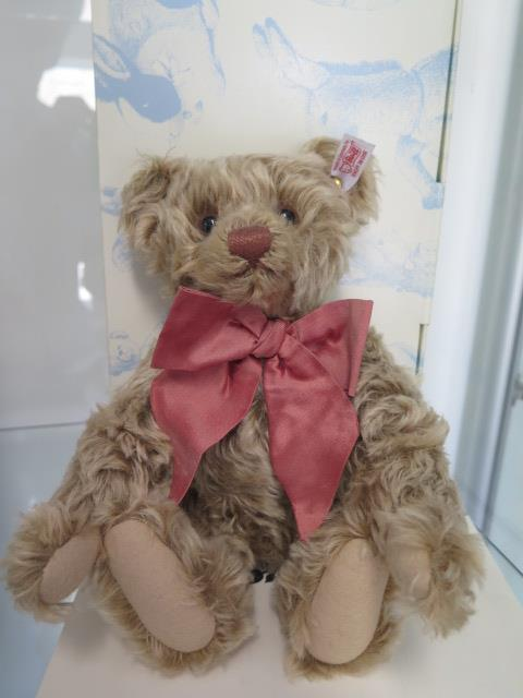 A Steiff BeNeLux bear, mohair, 28cm tall, Limited Edition number 168 of 1500, boxed with
