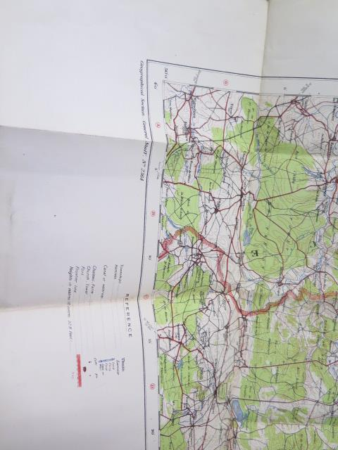 An interesting collection of five WWI trench maps, a reproduction map, an album of postcards Ypres - Image 7 of 8