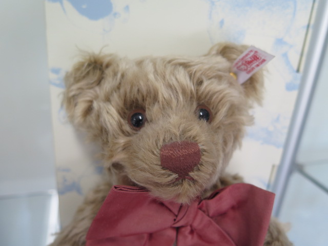 A Steiff BeNeLux bear, mohair, 28cm tall, Limited Edition number 168 of 1500, boxed with - Image 2 of 2