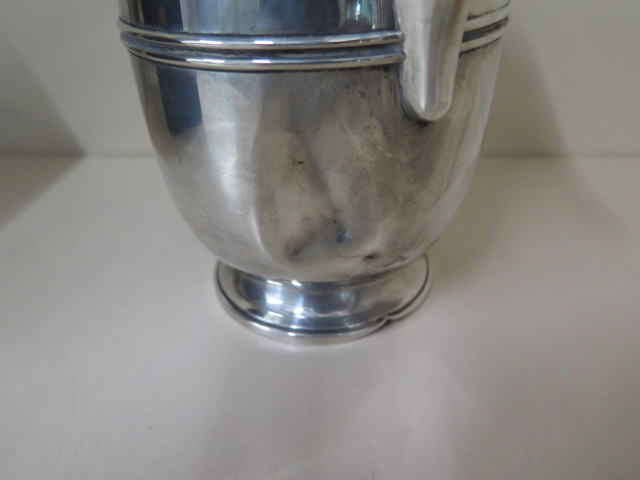 A Mappin and Webb silver pot with insert, Birmingham 1937/38, 18cm tall, approx 14.9 troy oz large - Image 3 of 6