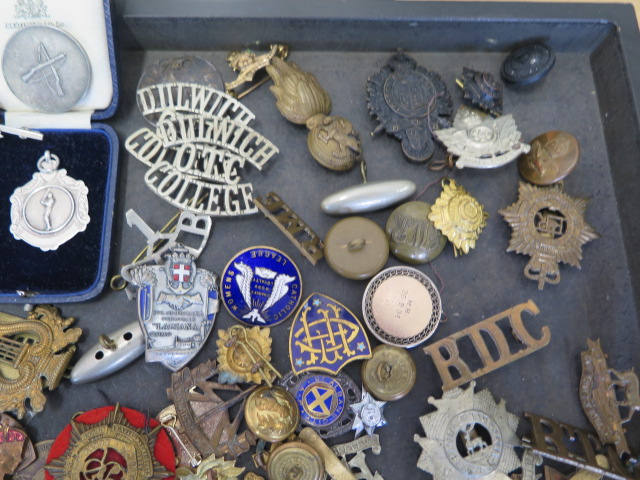 A collection of military buttons, badges, boy scout Glider patches Kings Own Regiment titles and - Image 5 of 5