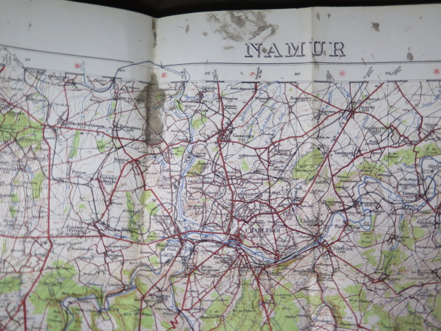 An interesting collection of five WWI trench maps, a reproduction map, an album of postcards Ypres - Image 8 of 8