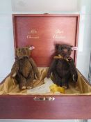 A Steiff Ambao Chocolate Belgium Bear set, mohair, 23cm tall, Limited Edition number 632 of 1500,