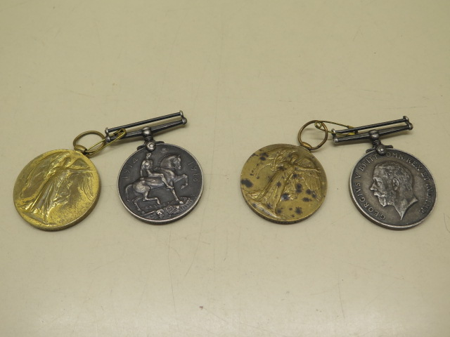 Two pairs of WWI medals to 234564 A Cpl G A Foster ASC and 118412 PNR R Saxon RE