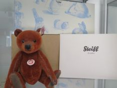 A Steiff Ralph the bear, 22cm tall, Limited Edition number 523 of 2010, boxed with outer box and
