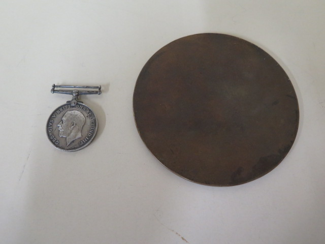A WWI medal to GS 27244 Pte A Pateman and a Dead mans penny to Cecil Edon - Image 3 of 3
