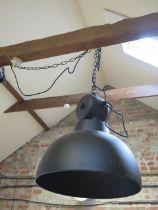 A pair of HK Living new design vintage matt black finish industrial style pendant ceiling lamps,