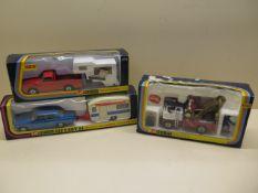A Corgi gift set 24, a Corgi Mazda Camper and a Corgi Major Holmes Wrecker, all boxed, boxes have