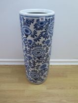 A blue and white stick stand 60 cm tall
