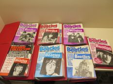 A complete set of 77 The Beatles Appreciation Society Magazine 1970s copies of the 1960s Beatles