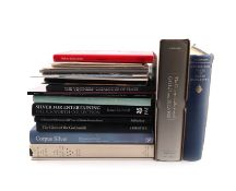 A collection of silver reference books on collections, including: Silver at Althorp, The Vintners