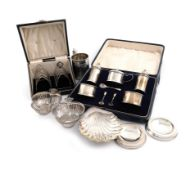 A mixed lot of silver items, various dates and makers, comprising: an early-Victorian mug, by