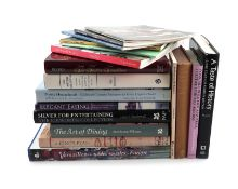 A Collection of reference books on Dining and Entertaining, including: Rothwell, J., Silver for