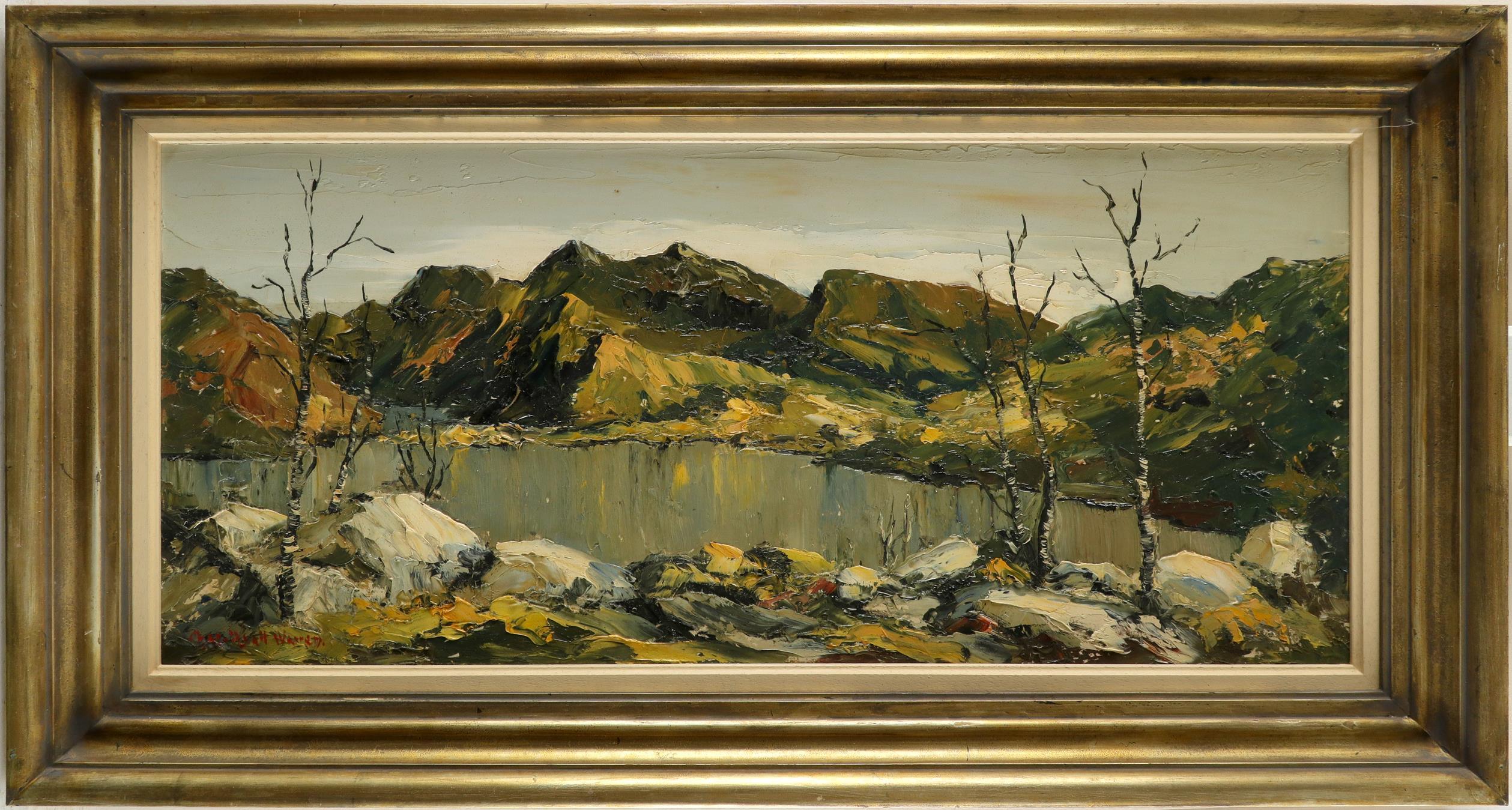 ‡Charles Wyatt Warren (Welsh 1908-1993) Snowdon from Llyn Padarn, Wales Signed Chas. Wyatt Warren ( - Image 2 of 3