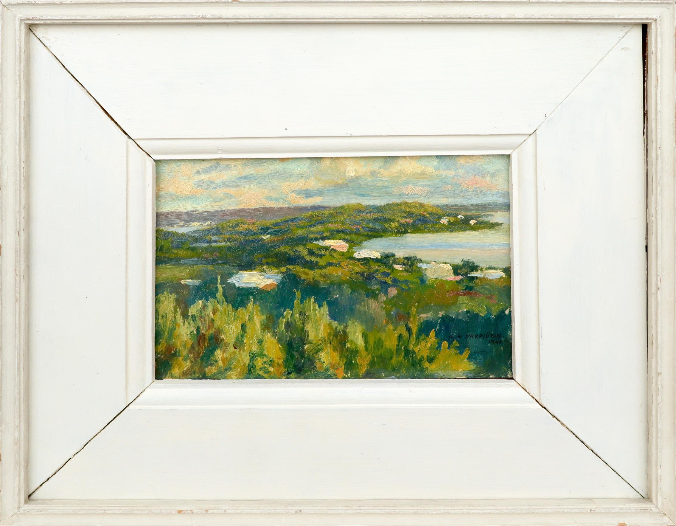 ‡Émile Antoine Verpilleux MBE (Anglo-Belgian 1888-1964) A view of Boss Cove, Spanish Point, Bermuda, - Image 2 of 3