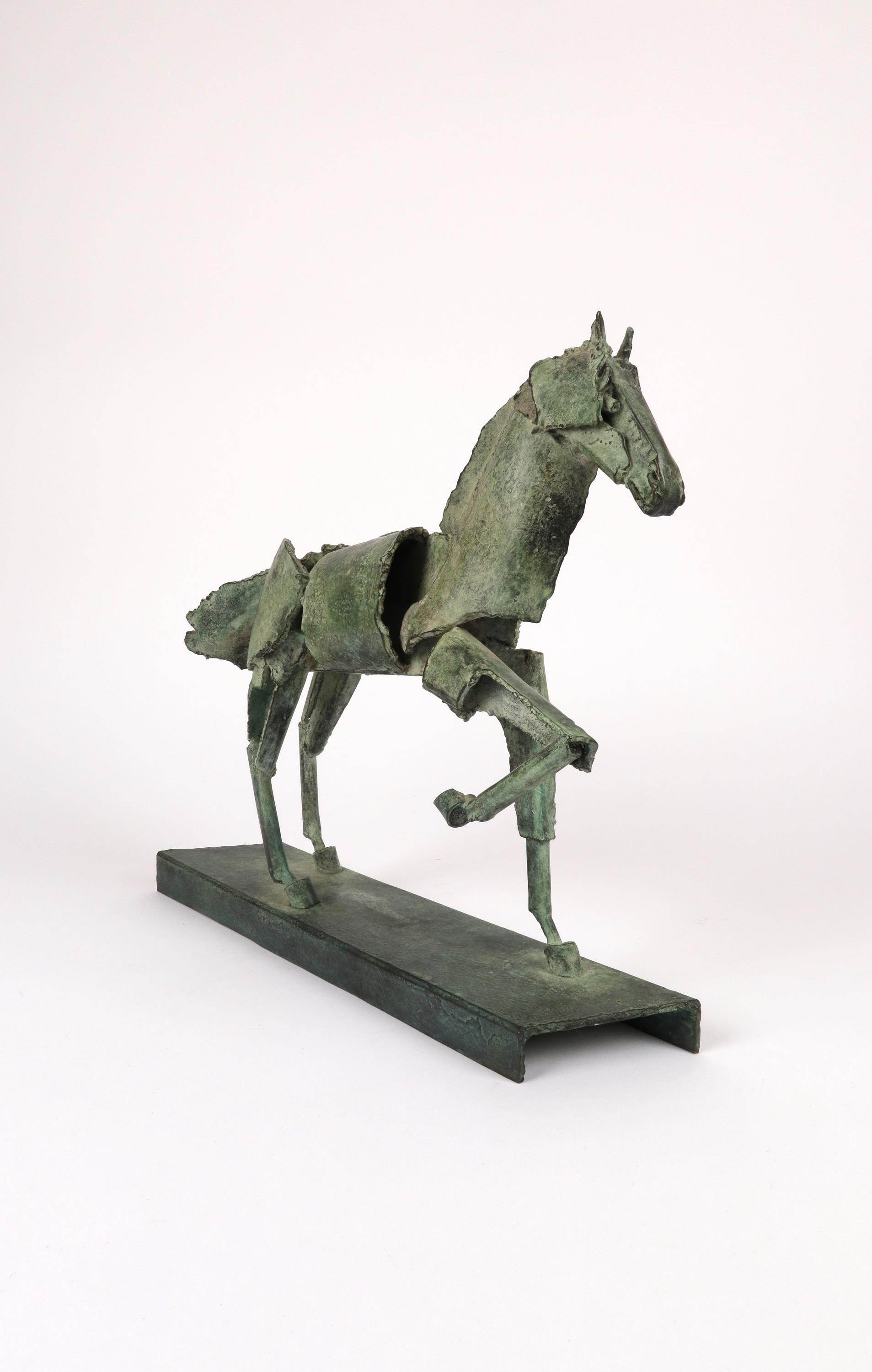‡Iain Nutting (b.1961) Proud horse Signed and numbered IAIN 1/8 (to base) Bronze with green - Image 2 of 5
