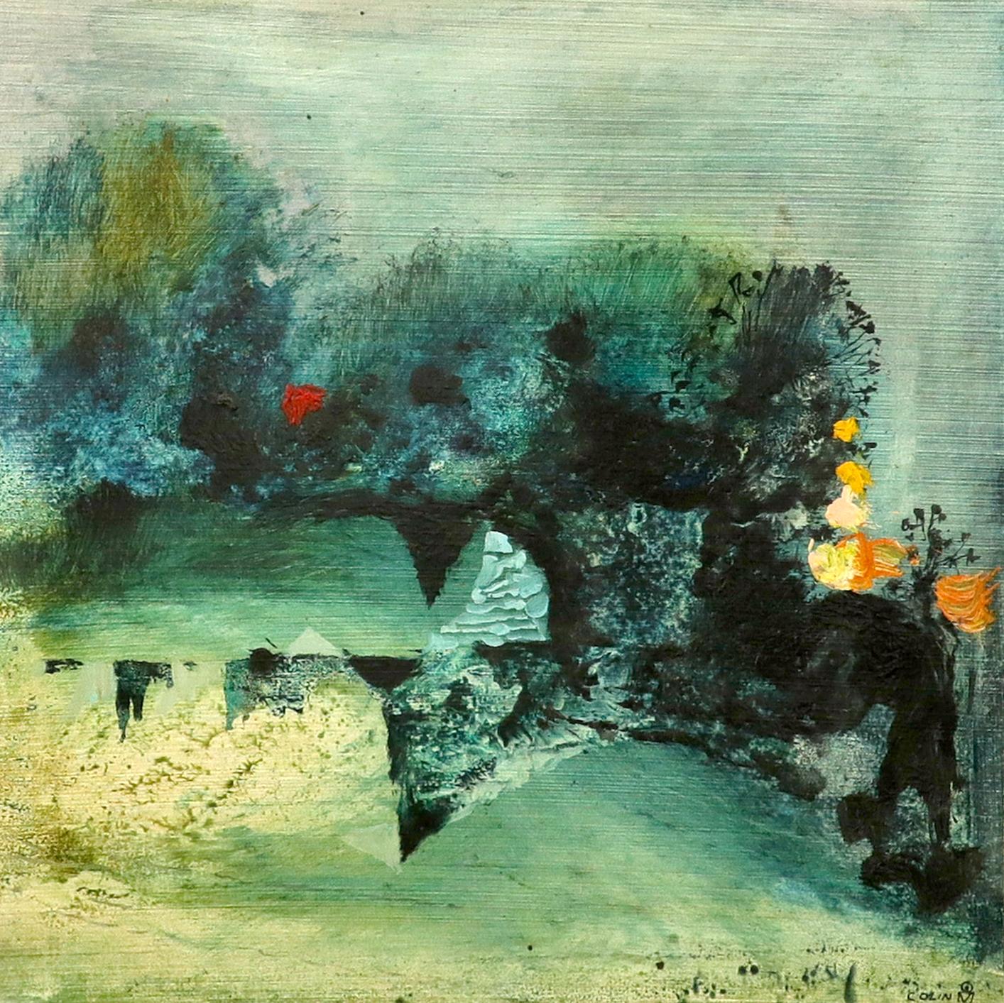 ‡Colin Middleton MBE (Irish 1910-1983) Garden, Westmeath Signed COLIN and with monogram (lower