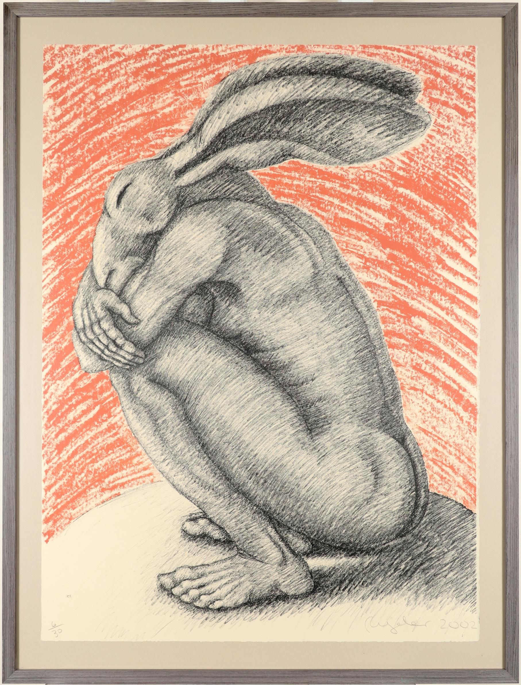 ‡Sophie Ryder (b.1963) Crouching lady-hare Signed, dated and numbered 6/30 Ryder 2002 (in pencil) - Image 2 of 3