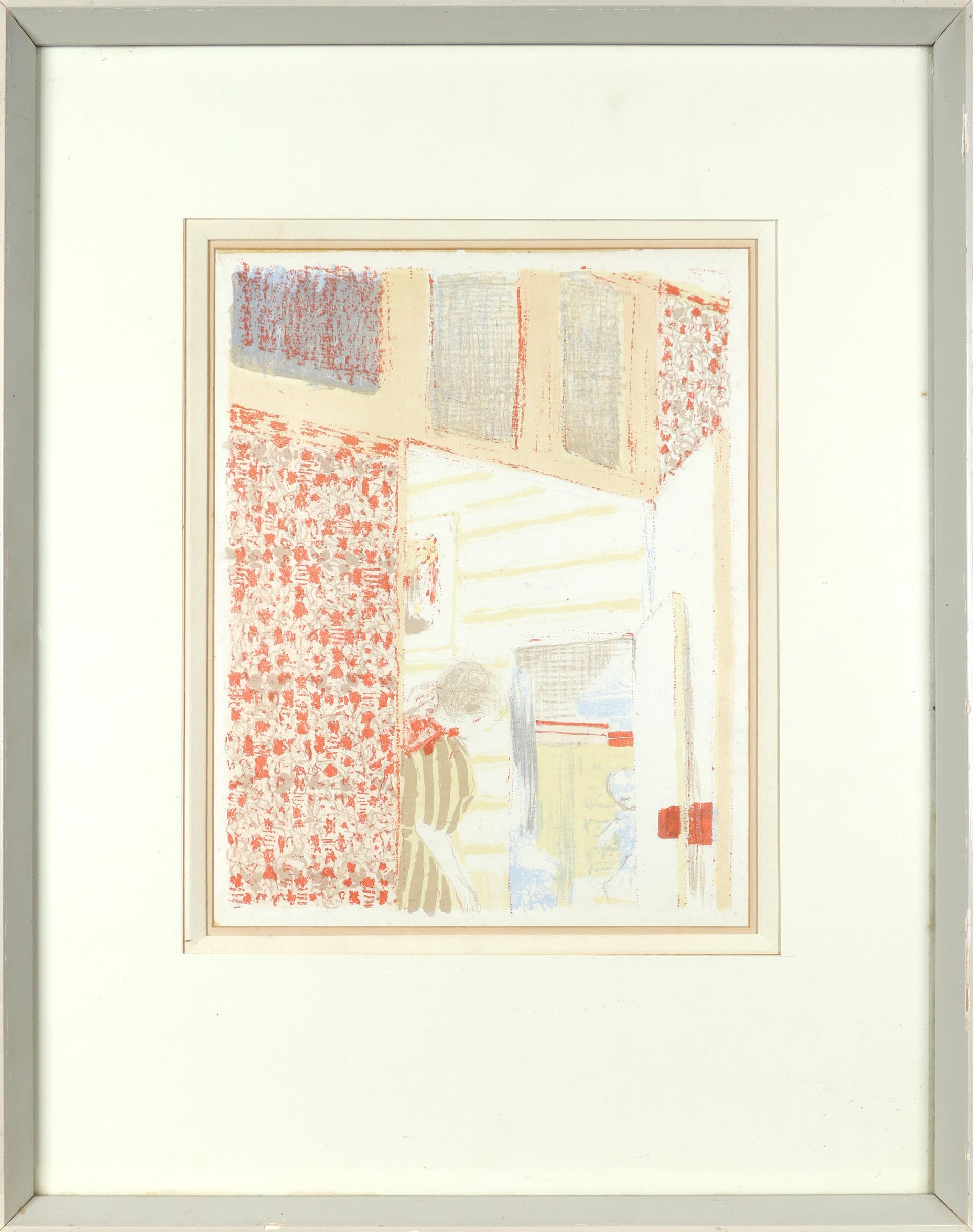 Édouard Vuillard (French 1868-1940) Interior with Pink Wallpaper III (Intérieur aux tentures roses - Image 2 of 3