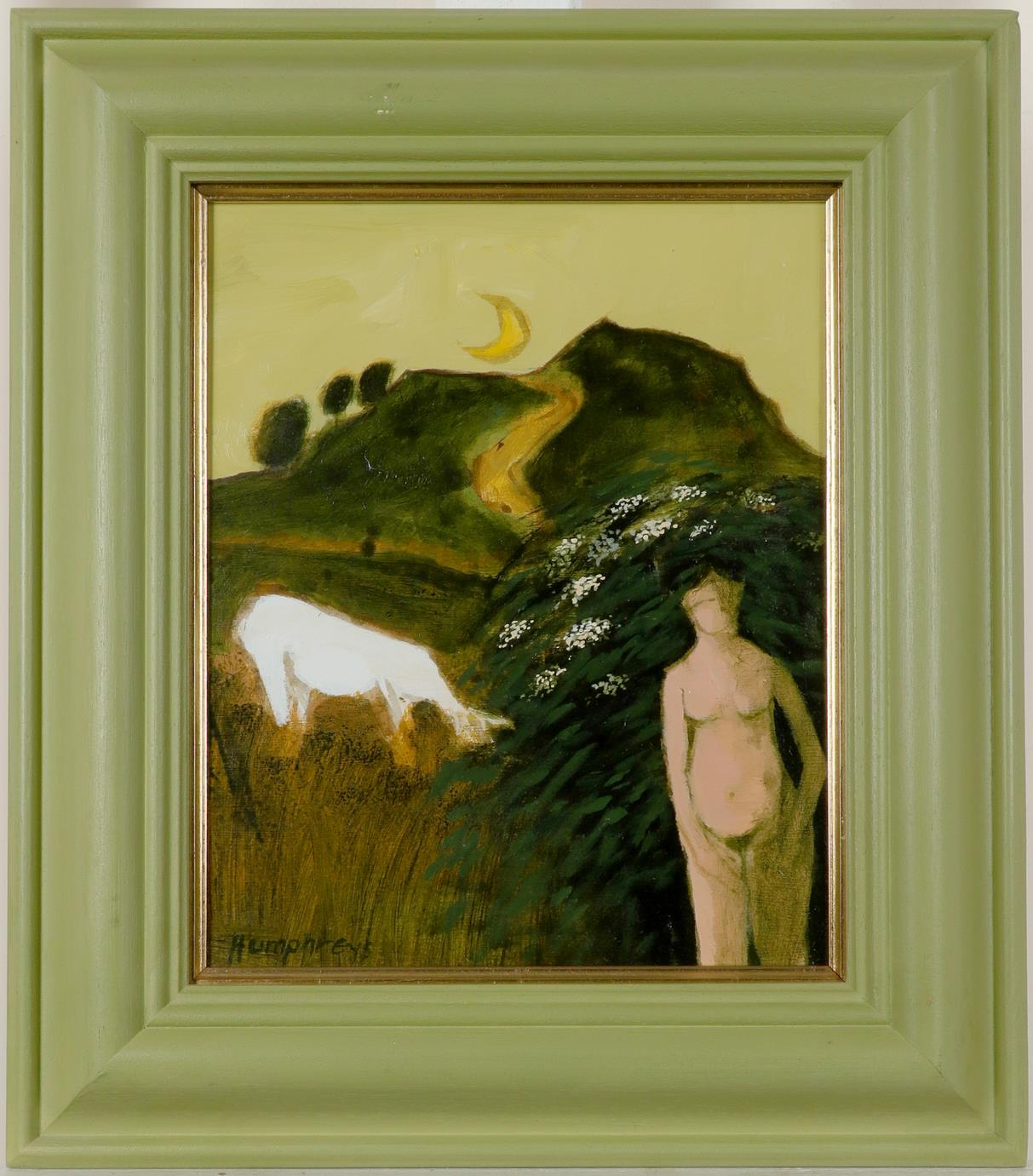 ‡David Humphreys (b.1937) Pembrokeshire Frolic 2 Signed Humphreys (lower left), and signed and - Image 2 of 3