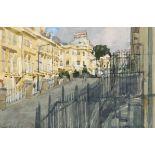 ‡Ken Howard OBE, RA (b.1932) The Belvedere, Bath Signed Ken Howard (lower left) Watercolour and