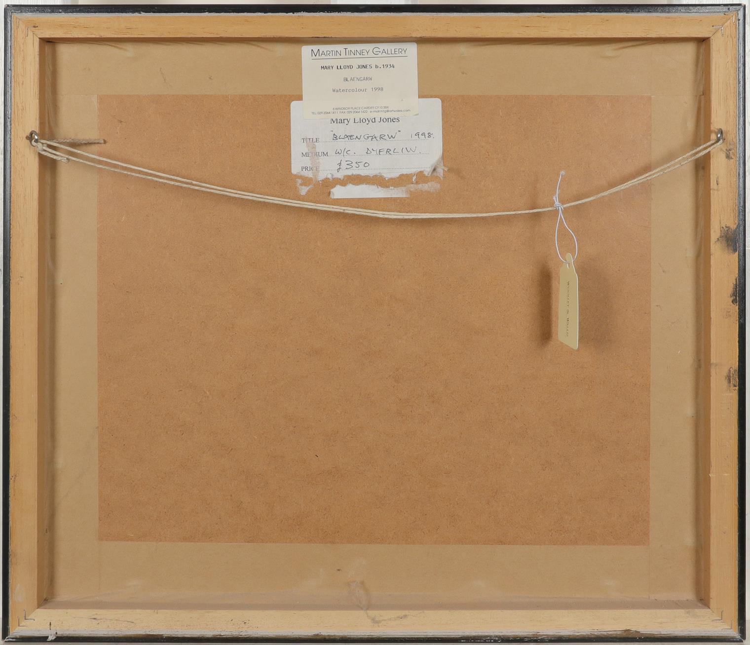‡Mary Lloyd Jones RCA, FLSW (Welsh b.1934) Blaengarw Signed and dated Mary Lloyd Jones 1998. ( - Image 3 of 3