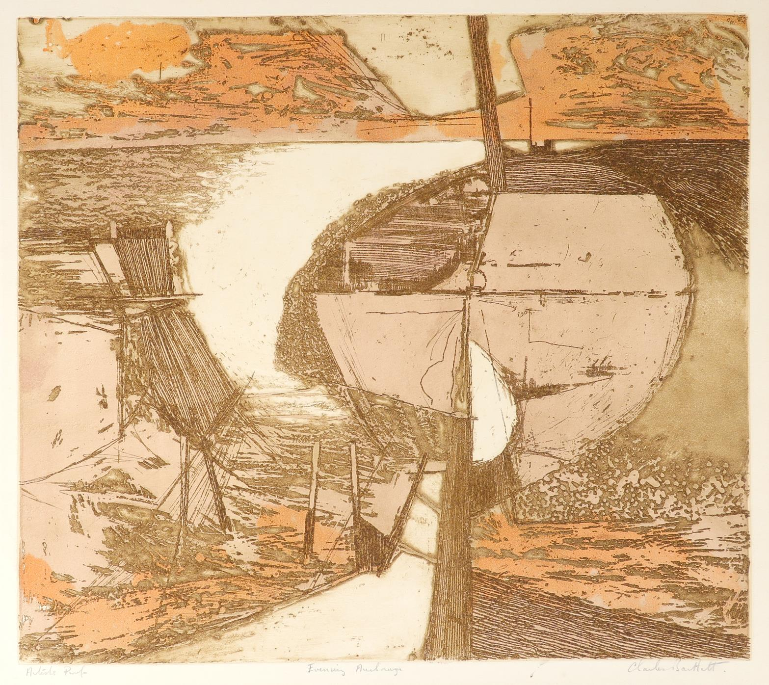 ‡Charles Bartlett (1921-2014) Ships at Anchor; Evening Anchorage Two, the former signed, numbered - Image 2 of 9