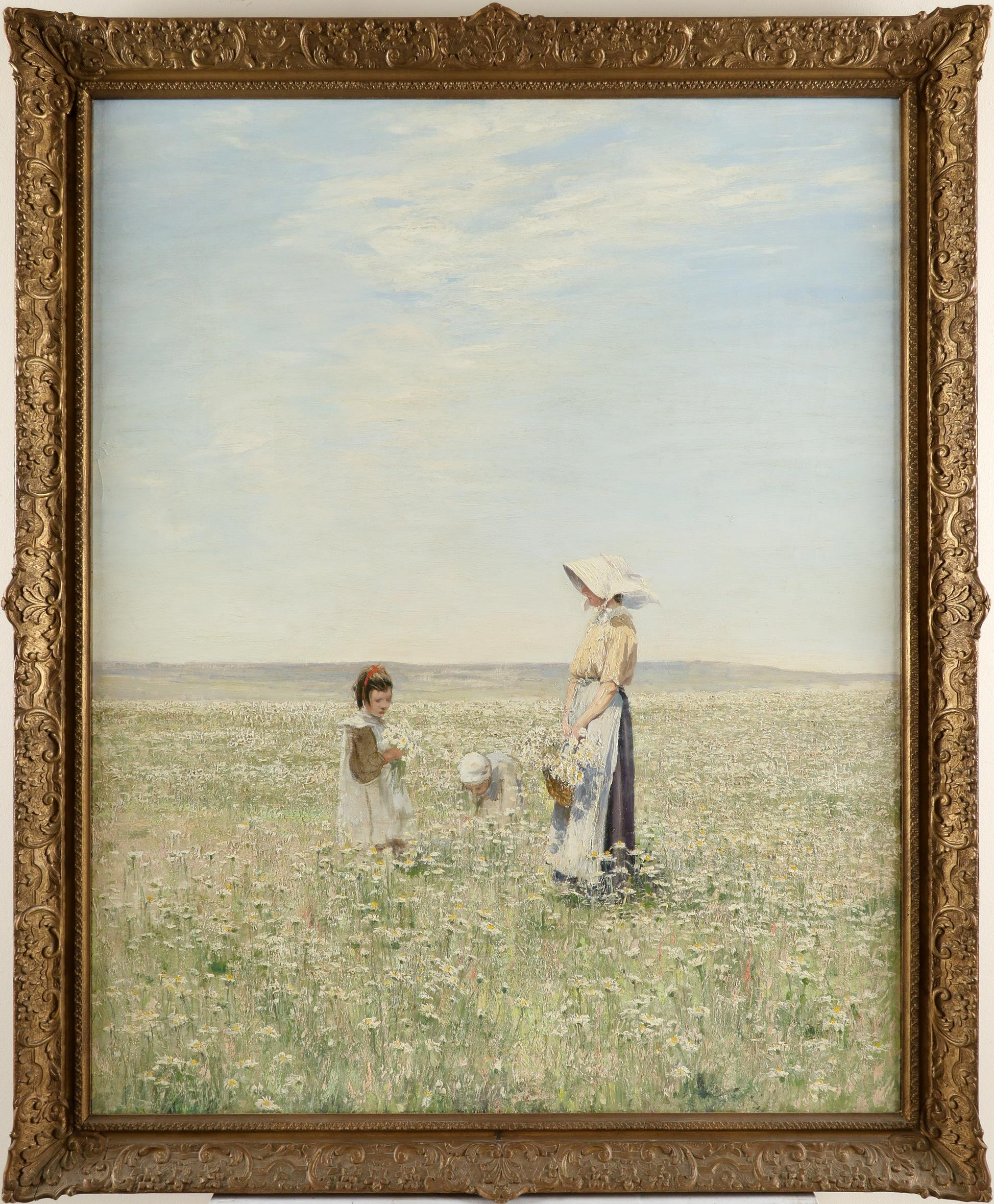 William Page Atkinson Wells (Scottish 1872-1923) Daisy Field Oil on canvas 100.3 x 80.1cm The - Image 2 of 3