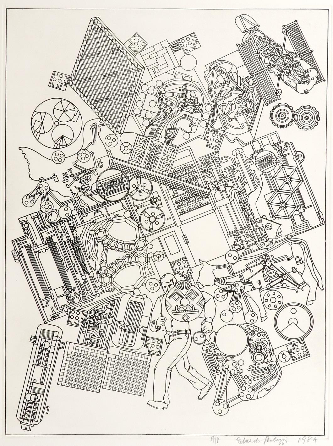 ‡Sir Eduardo Paolozzi CBE RA (Scottish 1924-2005) Study for Bruckner; On the Moon; Untitled Three, - Image 3 of 9