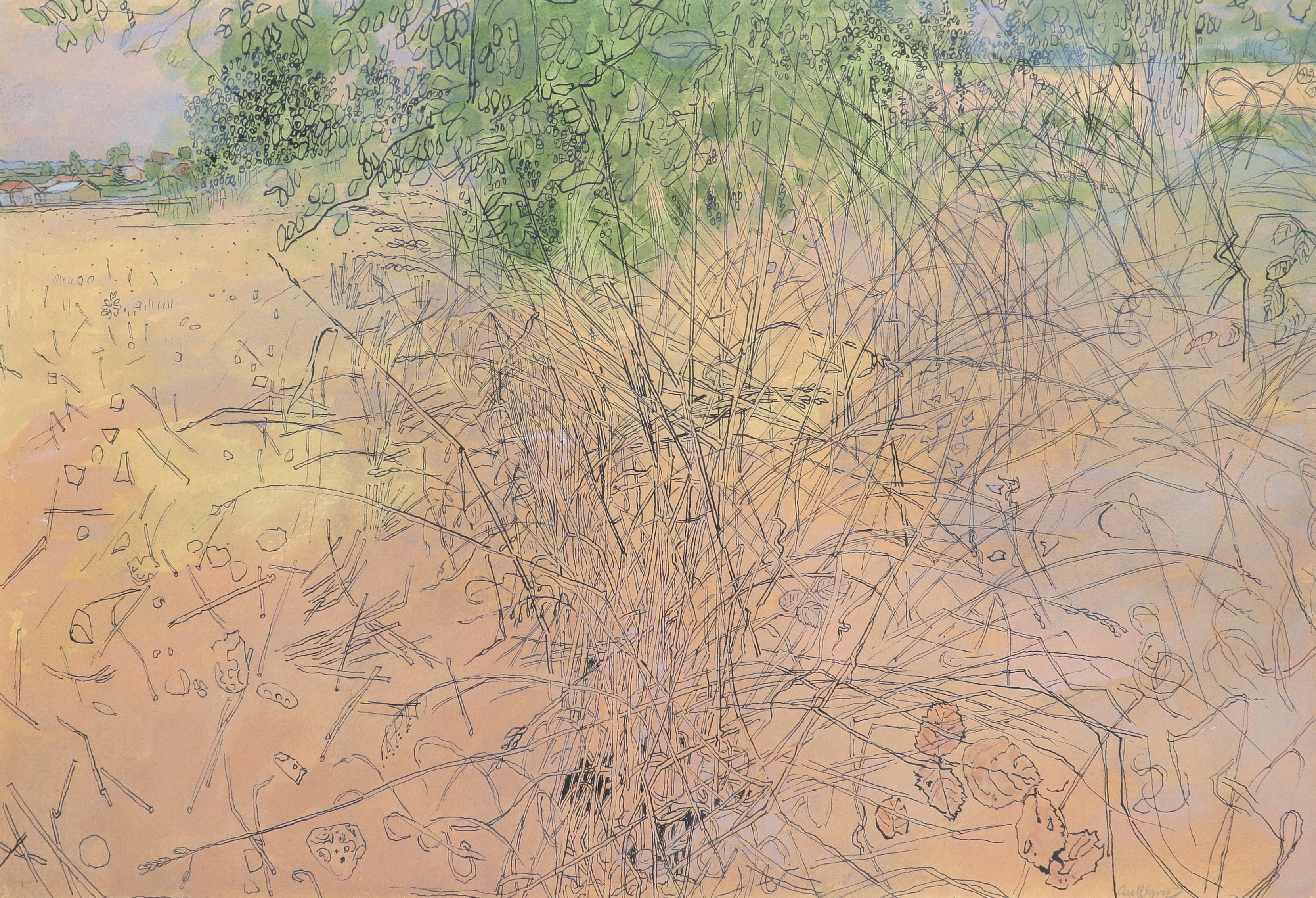 ‡Anthony Gross CBE, RA (1905-1984) The thicket Signed anyGross (lower right) Watercolour and pen and