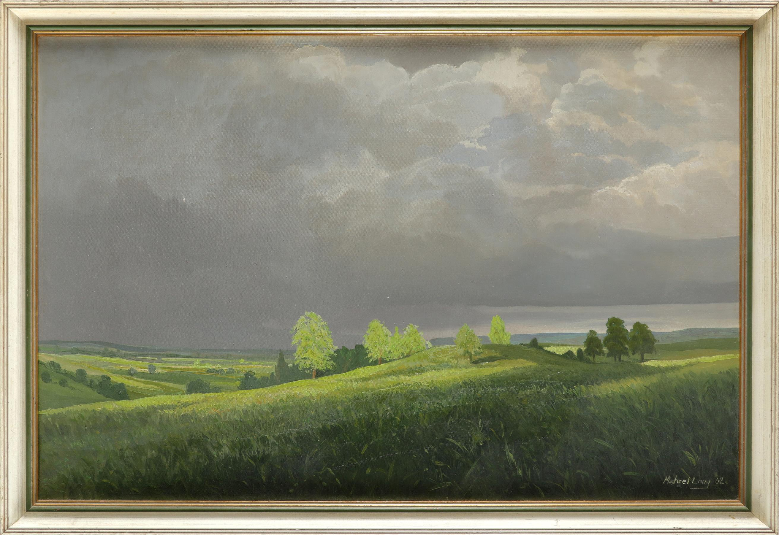 ‡Michael Long (b.1940) Sunlight after the storm Signed and dated Michael Long 62 (lower right) Oil - Image 2 of 3