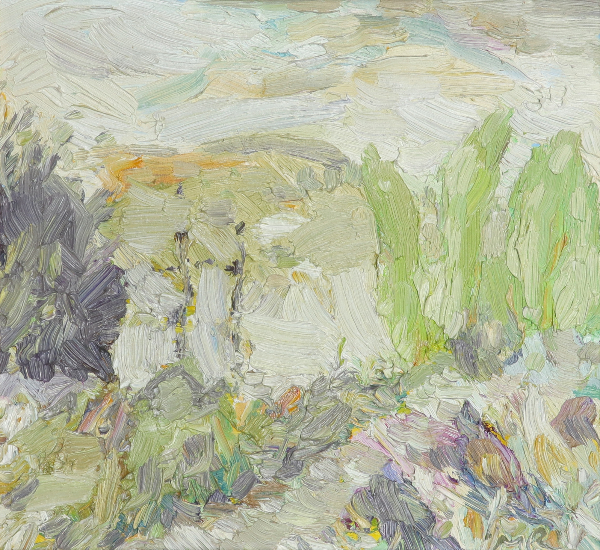 ‡Michael Paul Rainsford (Irish Contemporary) Trees, Farnhill Signed with initials MR (lower right)